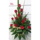 Centro de rosas decorativo