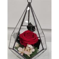 Diamante Con Rosa Eterna