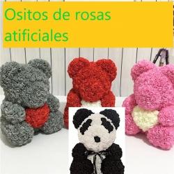Osito de rosas artificiales  grande