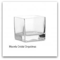 Cubre Maceta Cristal orquideas
