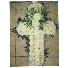 Cruz Funeral blanca