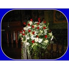 Centro boda con rosas